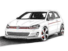 VW Golf GTI by Abdulaziz Şahin, via Behance