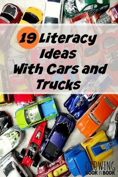 of Literacy Ideas for Car and Truck Play Literacy ideas and activities for car and truck play to build alphabet recognition, spelling and more!Literacy ideas and activities for car and truck play to build alphabet recognition, spelling and more! Literacy Skills, Kindergarten Literacy, Early Literacy, Preschool Learning, Early Learning, Preschool Activities, Kids Learning, Preschool Plans, Literacy Centres