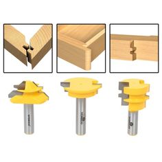 AccOED New Jointing Router Bit Set -Lock Miter/Glue Joint/ Drawer Front router bits for wood/milling tools/wood milling cutter Woodworking Router Bits, Woodworking Tools For Beginners, Woodworking Guide, Woodworking Crafts, Woodworking Bench, Woodworking Machinery, Cnc Router, Bit Set, Wood Joints