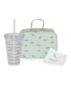 Love this Green Birds Eco Lunch Set by XO(eco) by Blue Avocado on #zulily! #zulilyfinds LOVE BIRDS!