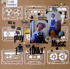 Funky music – layout by Sanna Lippert By: The Crafters Workshop 15-Aug-13