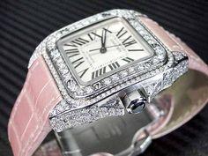 Cartier Santos 100 Midsize Automatic Women's Diamond Watch    visit www.ebaystores.com/jewelryking
