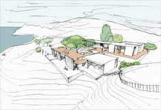 Simple sketches can give a good sense of the design. Casa R - Ibiza - CaSA - Colombo and Serboli Architecture