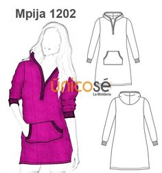 PIJAMA BOLSILLO CANGURO Cosplay Outfits, Hoodies, Sweatshirts, Sewing Patterns, Clothes, Tops, Flats, Illustration, Life