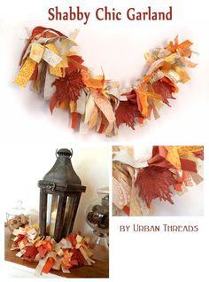 Shabby Chic Autumn Garland Tutorial by Urban Threads
