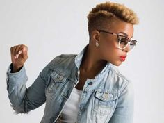 Shaved Hairstyles For Black Women | Pink and Milk