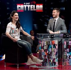Lodovica Comello in Happiness durante lo show E poi c'e Cattelan con Alessandro Cattelan