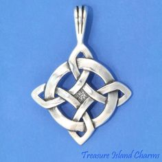 CELTIC GOOD LUCK ENDLESS KNOT .925 Solid Sterling Silver Pendant #Pendant