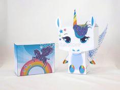 Rainbow Glitter Unicorn Favor Box for Unicorn whimsical Party
