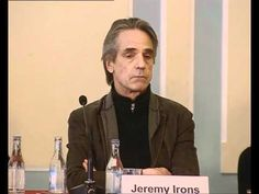 """Jeremy Irons at the """"Night Train to Lisbon"""" film Press Conference speaking about his role in the film #portugal"""
