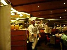 Dancing Waiters on Holland America Eurodam
