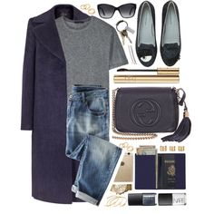 Dark Blue by monmondefou on Polyvore featuring moda, T By Alexander Wang, Reiss, Wrap, Chiara Ferragni, Gucci, Royce Leather, Maison Margiela, Pieces and Madewell