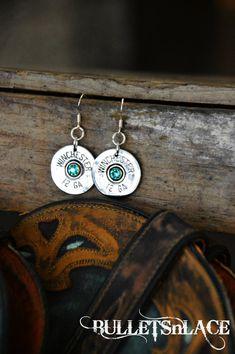 Shot gun shell earrings Bullet jewelry Earrings by BULLETSnLACE