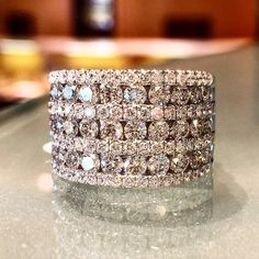 How would you like this ring on your finger? Gorgeous 7-row diamond band.www.alsonjewelers.com