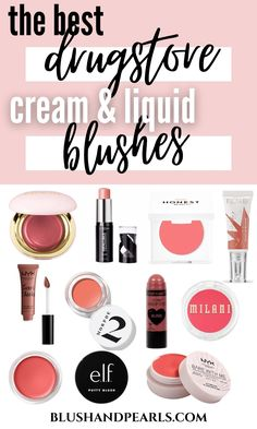 The Best Drugstore Cream & Liquid Blushes. Read all about these drugstore makeup must haves for the most gorgeous, glowy complexion ever! | glowing makeup tips | best drugstore blushes | dewy blushes | drugstore makeup products | the best amazon makeup products blush| amazon blush | elf cosmetics cream blush palette | best blush sticks and cheek tints | best liquid blushes |#blush #makeup #drugstoremakeup Blush Makeup, Drugstore Makeup, Beauty Makeup, Best Drugstore Blush, Milani Blush, Makeup Must Haves, High End Makeup, Cream Blush, Beauty Hacks