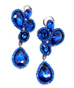 Royal Blue Swarovski Crystal Earring 19 99