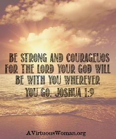 be strong in the Lord!