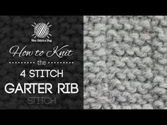 The 4 Stitch Garter Ribs Stitch :: Knitting Stitch #200 :: New Stitch A Day