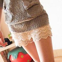 Shorts ( Renda ) MULHERES - Sexy/Bodycon/Casual/Pesta – BRL R$ 27,33