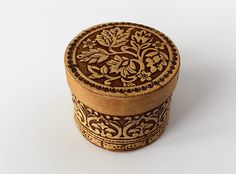 Wedding Ring Box Rustic Wood - Birch Bark Flower Design Bridesmaid Gift or Ring Bearer Box on Etsy, $8.50