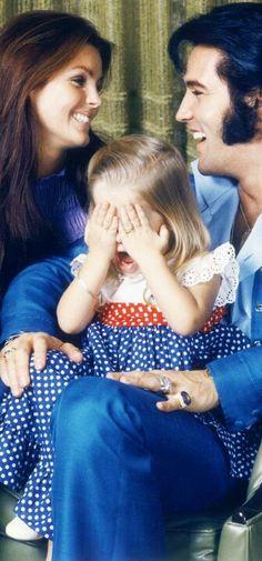 Priscilla, Elvis & Lisa Marie     #elvisserendipity