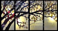 Stained Glass Beech Tree Panels