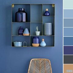 Walls and indigo accessories for your decor - inspiration showcases July 2016 - Blue Rooms, Blue Walls, Indigo Walls, Home Interior, Interior Decorating, Natural Interior, Decorating Bedrooms, Decorating Games, Interior Plants