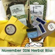 The Herbal Bliss box this month has some foodie items, as well as some wonderful scented skin and body care products. Herbal Bliss is one of the best indie eco-friendly lifestyle sub boxes out ther… Body Care, Bliss, The Balm, Herbalism, Eco Friendly, Indie, November, Lifestyle, Box