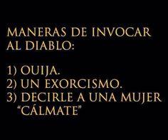 Maneras de invocar al diablo. #humor #risa #graciosas #chistosas #divertidas