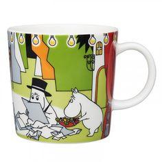 27.3.2017:Summer Theater mug 0,3 l plate spoon Moominpappa spoon Little My Motives on the Moomin summer season series 2017 are...