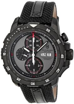 Victorinox Swiss Army Alpnach Chronograph Warm Grey Dial Mens Watch 241528 Victorinox Swiss Army. $1270.49. Round Stainless Steel Case. Chronograph Display. Water Resistance : 10 ATM / 100 meters / 330 feet. Black Calfskin Strap. Automatic