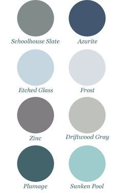 Paint Colors that I want in at least one room of my someday home.