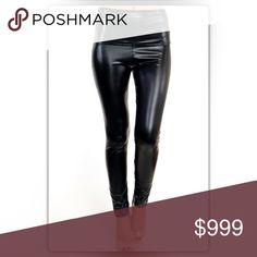 Just Arrived! Black High Waisted Liquid Leggings Simply fabulous! These liquid black leggings add instant edge to any street syle look. They are made of 92% polyester and 8% spandex. They are 37 inches long with a 26 inch inseam. NEW Boutique Pants Leggings