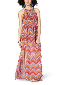 image of Island Chevron Maxi Dress