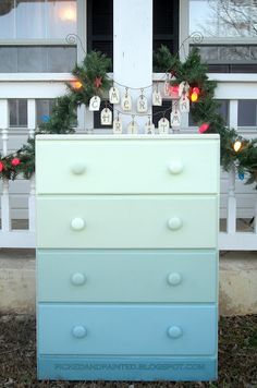Picked & Painted: My Version of an Ombre Dresser
