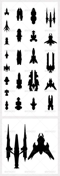 Spaceship Silhouettes