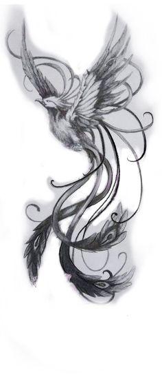 Phoenix Tattoo Feminine, Small Phoenix Tattoos, Phoenix Tattoo Design, Feniks Tattoo, Thor Tattoo, Body Art Tattoos, Tattoo Design Drawings, Tattoo Designs, Phoenix Drawing