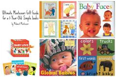 Ultimate Montessori Gift Guide for a 1-Year- Old: Simple books (by Midwest Montessori)