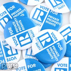 Custom Button Samples | Promotional Products | PureButtons - Quality Custom Buttons Political Campaign, Custom Buttons, Rectangle Shape, High Gloss, Promotion, Politics, Products, Political Books, Gadget