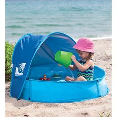 Beach Pool Pack 'n' Play. Pin to win! Enter for your chance to win a $250 gift card at http://sweeps.piqora.com/magiccabinsummerimaginationsweepstakes Sweepstakes ends 5/20/14.