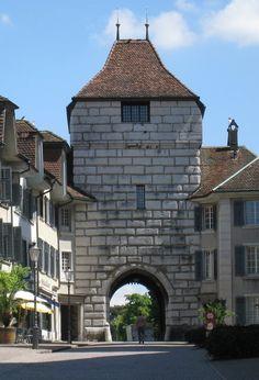 Town gate in Solothurn / porte de la ville à Soleure / Stadttor in Solothurn Swiss Switzerland, Central Europe, Austria, Gazebo, Landscapes, Backgrounds, Outdoor Structures, Natural, Travel