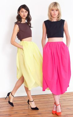 Camelia Petal Skirt by  for Preorder on Moda Operandi