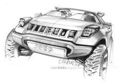 Industrial design sketching: pencil sketch, concept car drawing, http://muchpunch.blogspot.kr/