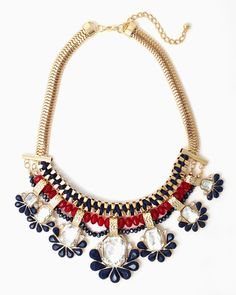 charming charlie | Seven-Blossom Bib Necklace | UPC: 410006792845 #charmingcharlie