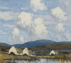 Paul Henry, R.H.A., R.U.A. ~ Cottages in the West