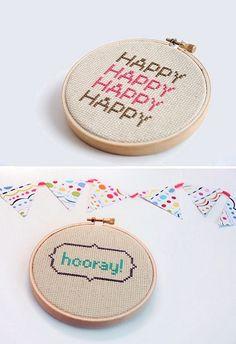 cross stitch typography..