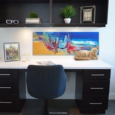 """#colorislife #peinture #painting #art #decoration #interiordesign """"À la recherche de P'ong-lai"""" / 'Reaching For P'ong-lai' (c) Eliora Bousquet [Base photo (c) Erika Wittlieb] Evanescence, Bousquet, Ong, Corner Desk, Decoration, Painting, Furniture, Home Decor, Home Decoration"""