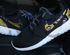 d1c7b4f4f4 Pittsburgh Penguins 17' Nike Roshe One Custom Men Women & Kids Roshe  One,
