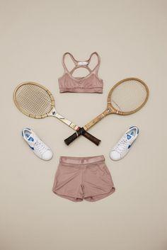 Tennis wear still life photographed by Carl Kleiner, styled by Julie von Hofsten