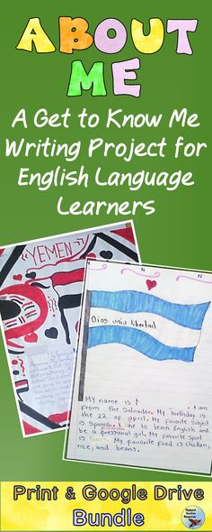 Get to know your English Language Learners with this writing unit.  Through these ESL lessons and ESL teaching activities, your ELLs will learn English Vocabulary as they work through this project. #esllessons #eslactiviities #eslteachingideas Grammar Activities, Teaching Activities, Teaching Writing, Classroom Activities, Teaching Ideas, Teaching English Grammar, English Language Learners, English Vocabulary, Esl Lessons
